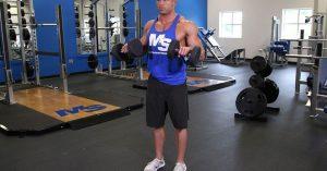 Curl inverso de bíceps con mancuernas