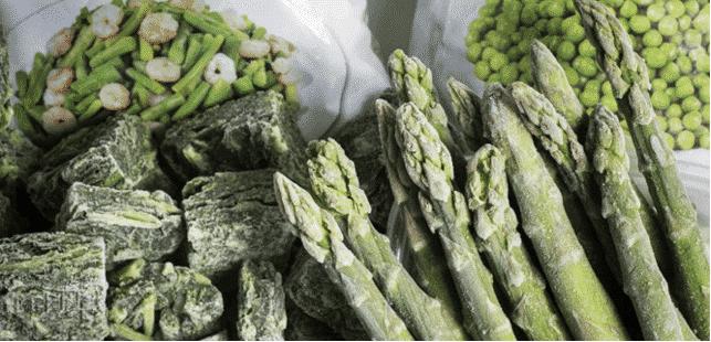 verduras frescas o congeladas