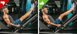 Errores ejercicios de piernas