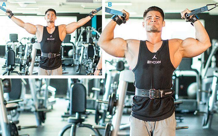 Bíceps en polea alta