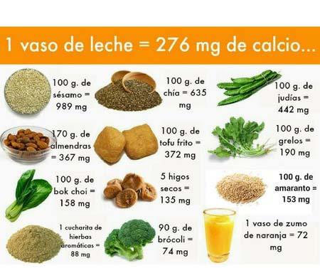 fuentes de calcio veganas