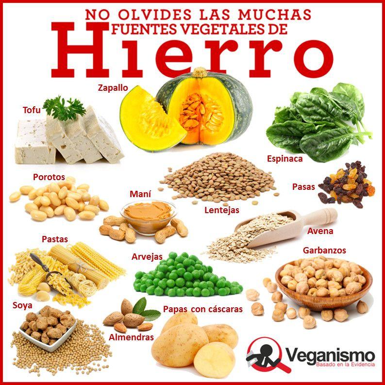 fuentes de hierro veganas