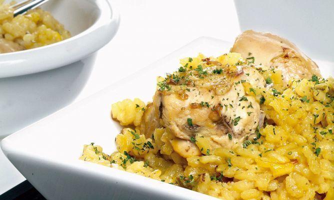arroz y pollo