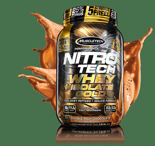 nitro tech whey isolate gold