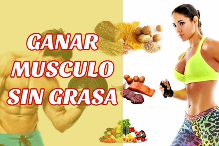 ganar musculo sin grasa