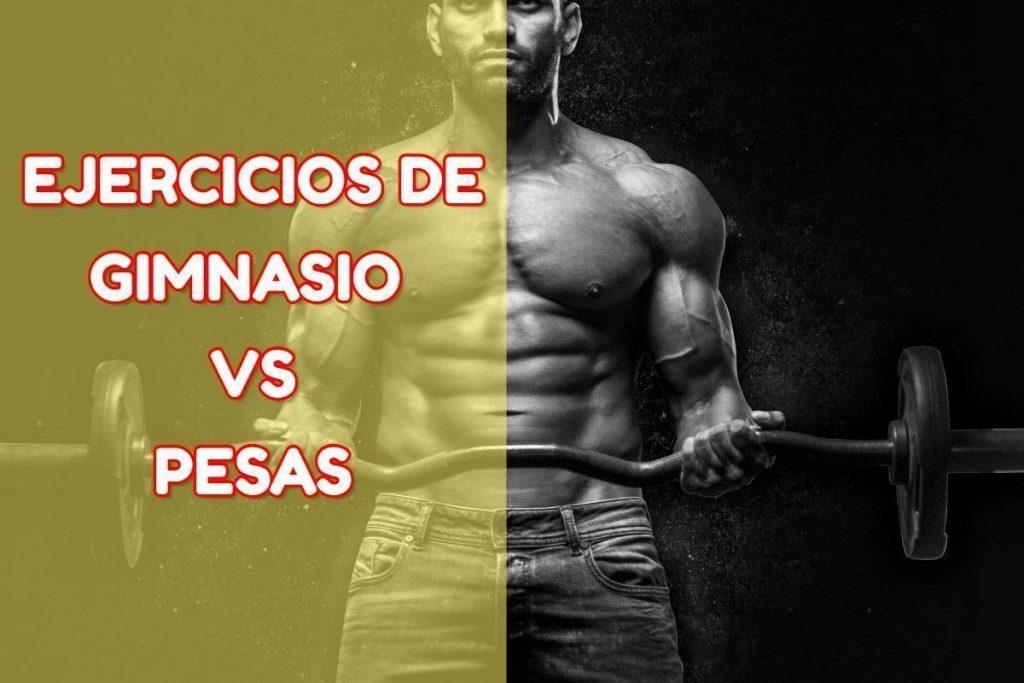 Máquinas de gimnasio vs pesas