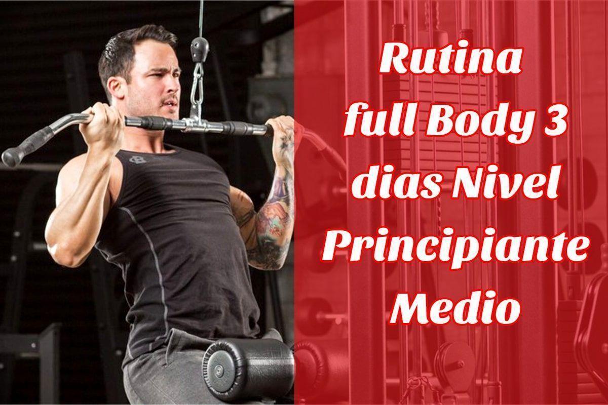 rutina full body 3 dias