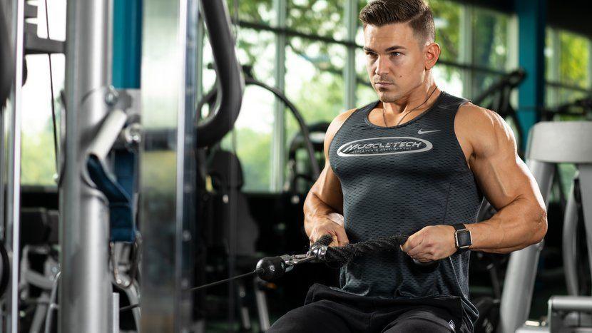 Entrenamiento espalda bíceps