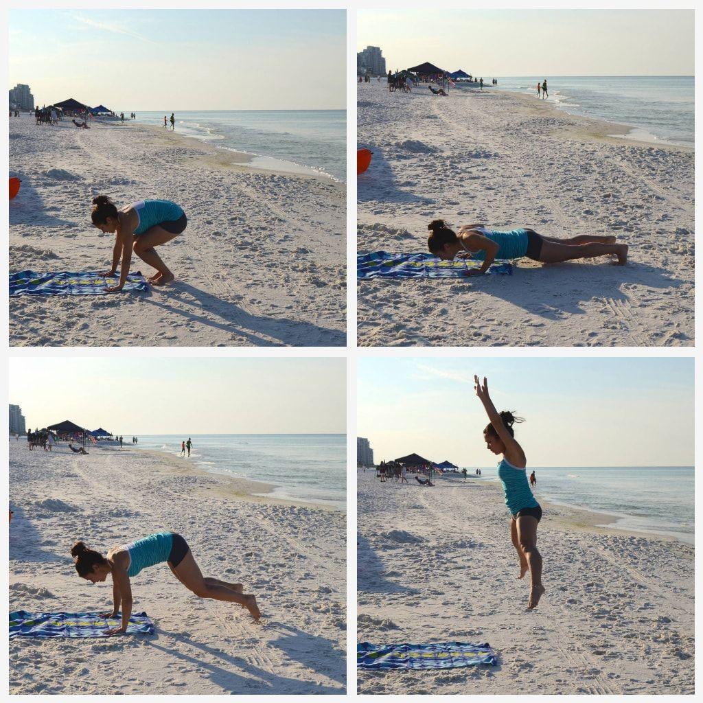 ejercicios para hacer en la playa burpee