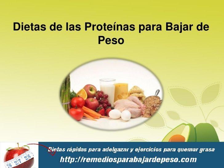 dietas para adelgazar con proteinas