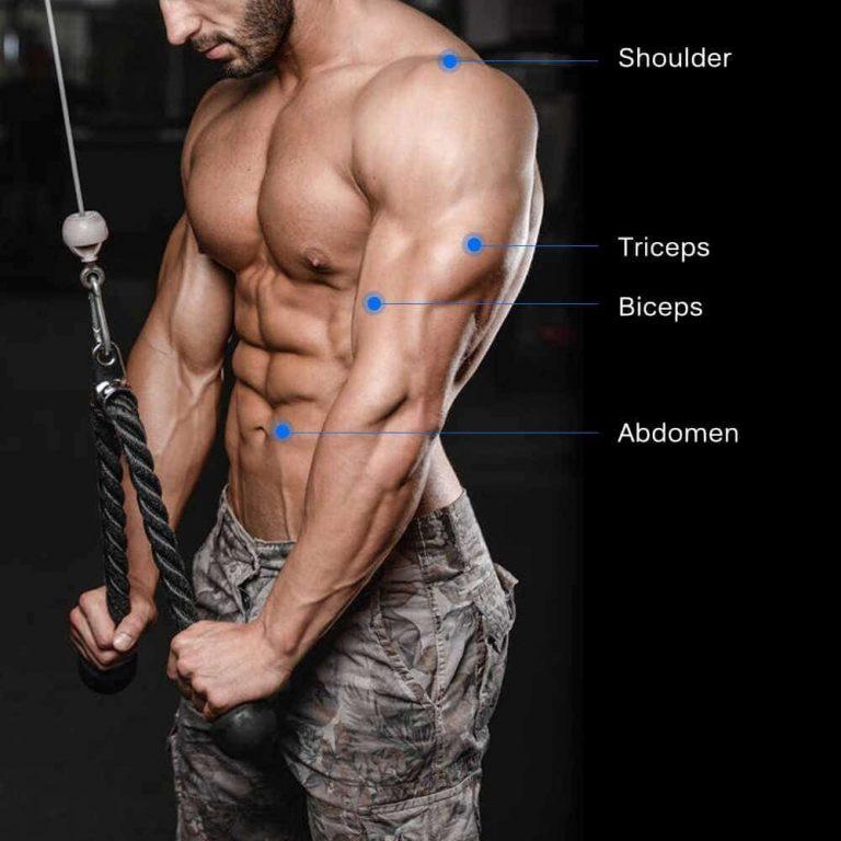 Flexiones de triceps con cable con cuerda 34
