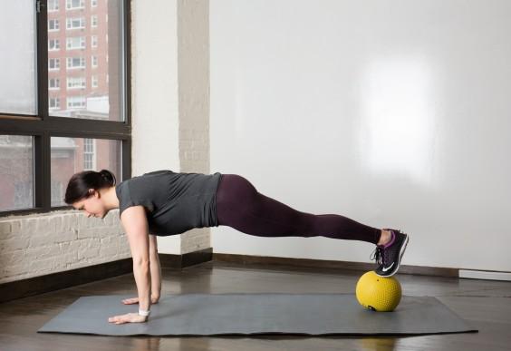 Reverse Med Ball Plank