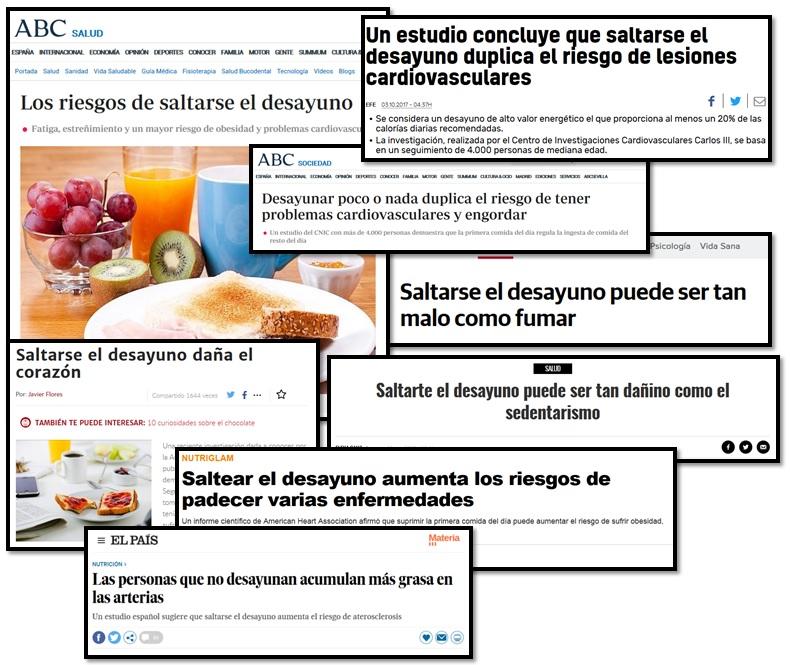 Perills de no esmorzar segons la premsa Dejuni intermitent Naturafit