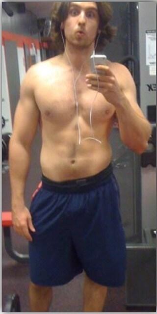 antes del entrenamiento de hipertrofia muscular
